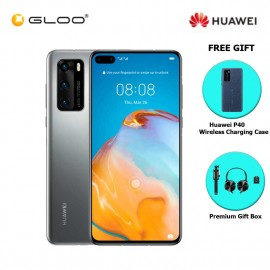 Huawei P40 8GB+128GB Silver Frost [FREE Huawei P40 Wireless Charging Case + Premium Gift Box (Headset/Selfie Stick/iRing)]