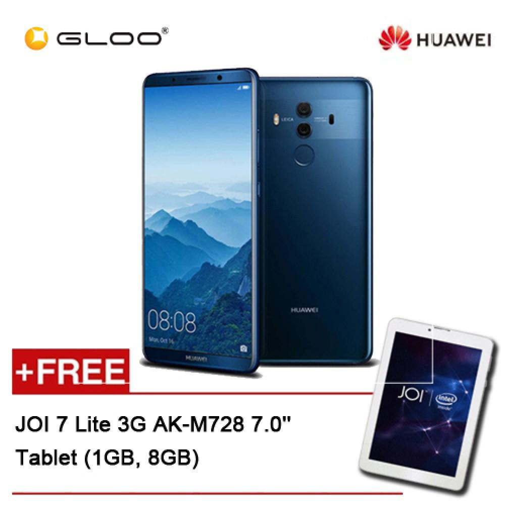 Huawei Mate 10 Pro Blue (128GB/6GB RAM) BLA-L29 FREE JOI 7 Lite - 3G Pearl White PN:AK-M728