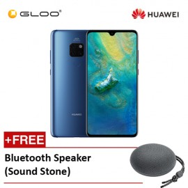Huawei Mate 20 6GB+128GB Midnight Blue Free Bluetooth Speaker (Sound Stone)