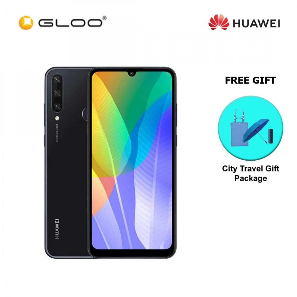 Huawei Y6P 4GB+64GB Midnight Black [FREE Premium Gift Box (Headset/Selfie Stick/iRing)]