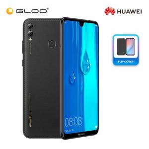 Huawei Y Max 4GB+128GB Midnight Black FREE Original Flip PU Leather Case Cover