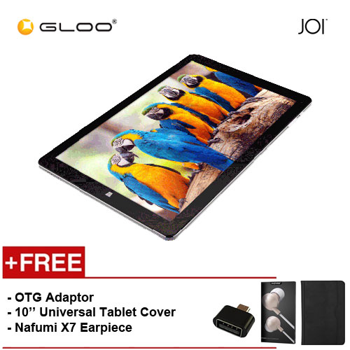 "JOI 10 Flip [FREE OTG adaptor (Provided) + 10"" Universal Tablet Cover + Nafumi X7 Earpiece(Gold) ]"