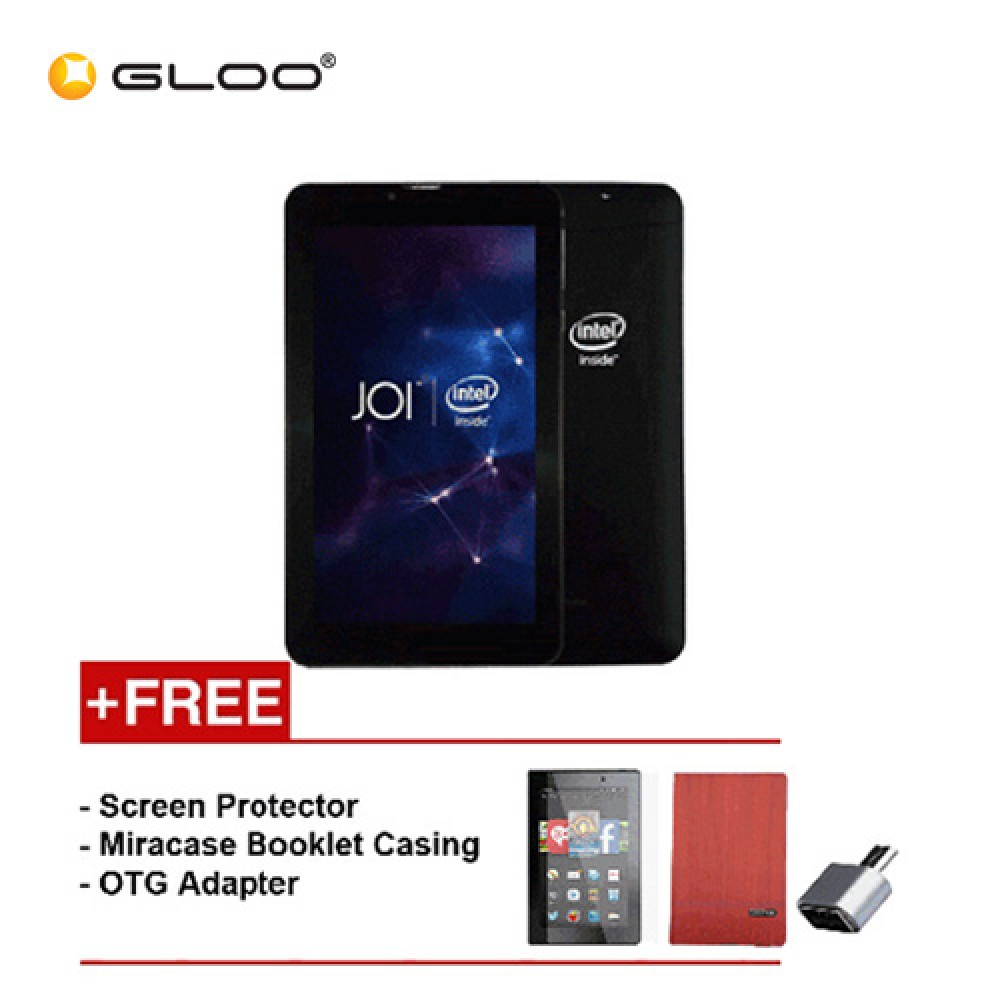 [REFURBISHED] JOI 7 Lite - 3G Charcoal Black PN:AK-M728 {Free Screen Protector + Miracase- Red + OTG Adapter}