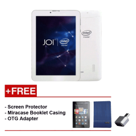 JOI 7 Lite - 3G Pearl White PN:AK-M728  {Free Screen Protector + Miracase- Blue + OTG Adapter}