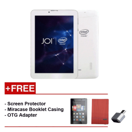 JOI 7 Lite - 3G Pearl White PN:AK-M728  {Free Screen Protector + Miracase- Red + OTG Adapter}