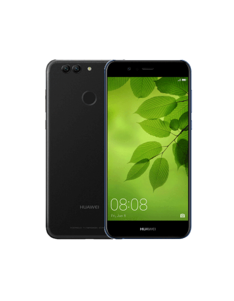 "Huawei Nova 2 Plus 5.5"" Smartphone (4GB, 128GB) - Graphite Black Free Shield Care 1 Year Extended Warranty"