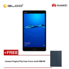 Huawei Mediapad M3 Lite [4G LTE/32GB ROM/3GB RAM] Original Huawei Malaysia Set (Space Grey) + FREE Original Huawei Flip Case