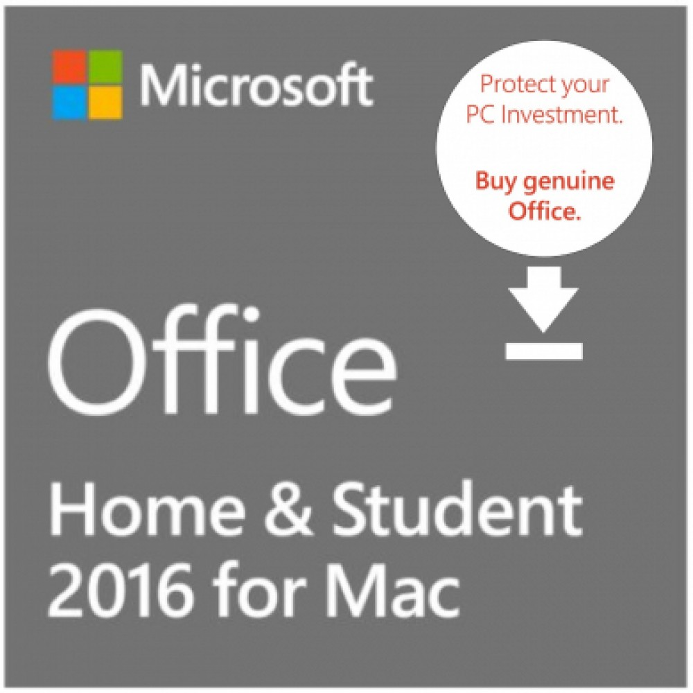 Office Home & Student 2016 for Mac (ESD)