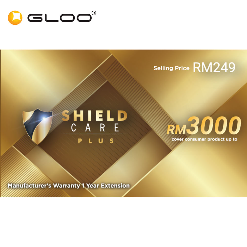 Shield Care Plus 1 Year Extended Warranty (Coverage up to RM3,000) - Gold