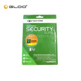 Kaspersky Tech Titan Security Suite 4 in 1- Internet Security 1 User 1 Year 2017