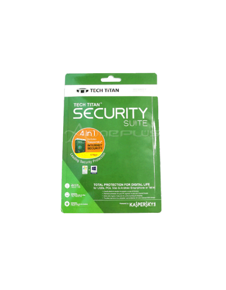 Kaspersky Tech Titan Security Suite 4 in 1- Internet Security 1 User 1 Year 2017
