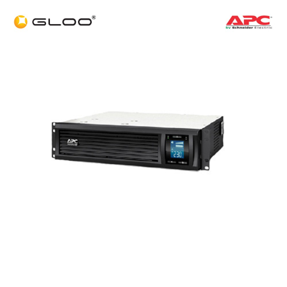 APC Smart-UPS C 1000VA  Rack Mountable LCD RM 2U 230V SMC1000I-2U - Black