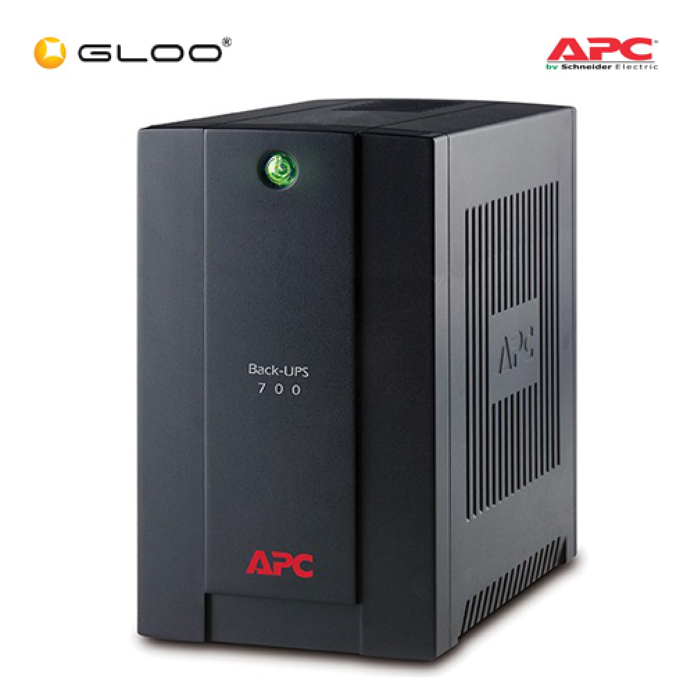 APC Back-UPS 700VA, 230V, AVR, Universal and IEC Sockets BX700U-MS - Black