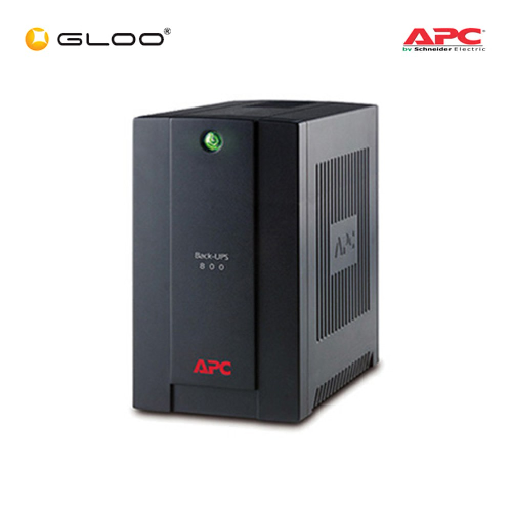 APC Back-UPS 800VA, 230V, AVR, Universal and IEC Sockets BX800LI-MS - Black