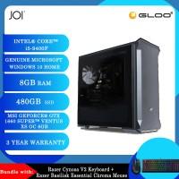 JOI PC 5090 (i5-9400F/8G/480GB SSD/GTX 1660S/W10H)+Razer Cynosa V2 Keyboard+Razer Basilisk Essential Chroma Mouse