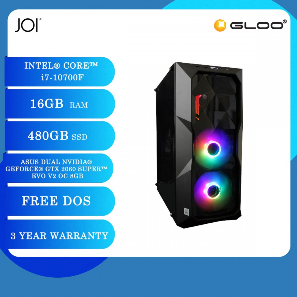 JOI PC 7100 (i7-10700F/16G/480GB SSD/RTX 2060S/DOS)