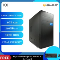 JOI PC A1032 (Ryzen 3 3200G/8G/240GB SSD/DOS) Free Combo Wired Keyboard+Mouse