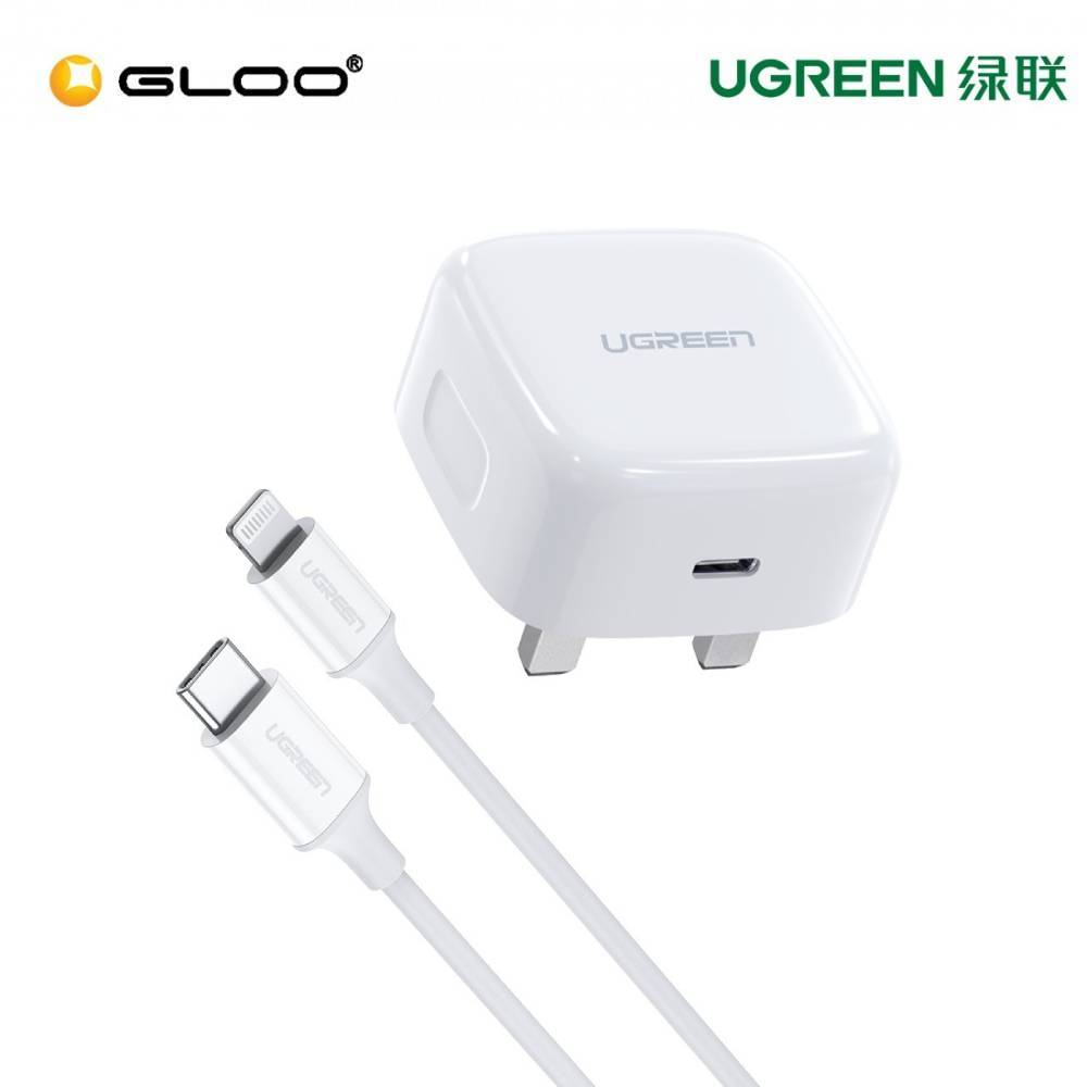 UGREEN 18W PD FAST CHARGER WITH 1M USB-C TO LIGHTNING CABLE 70297