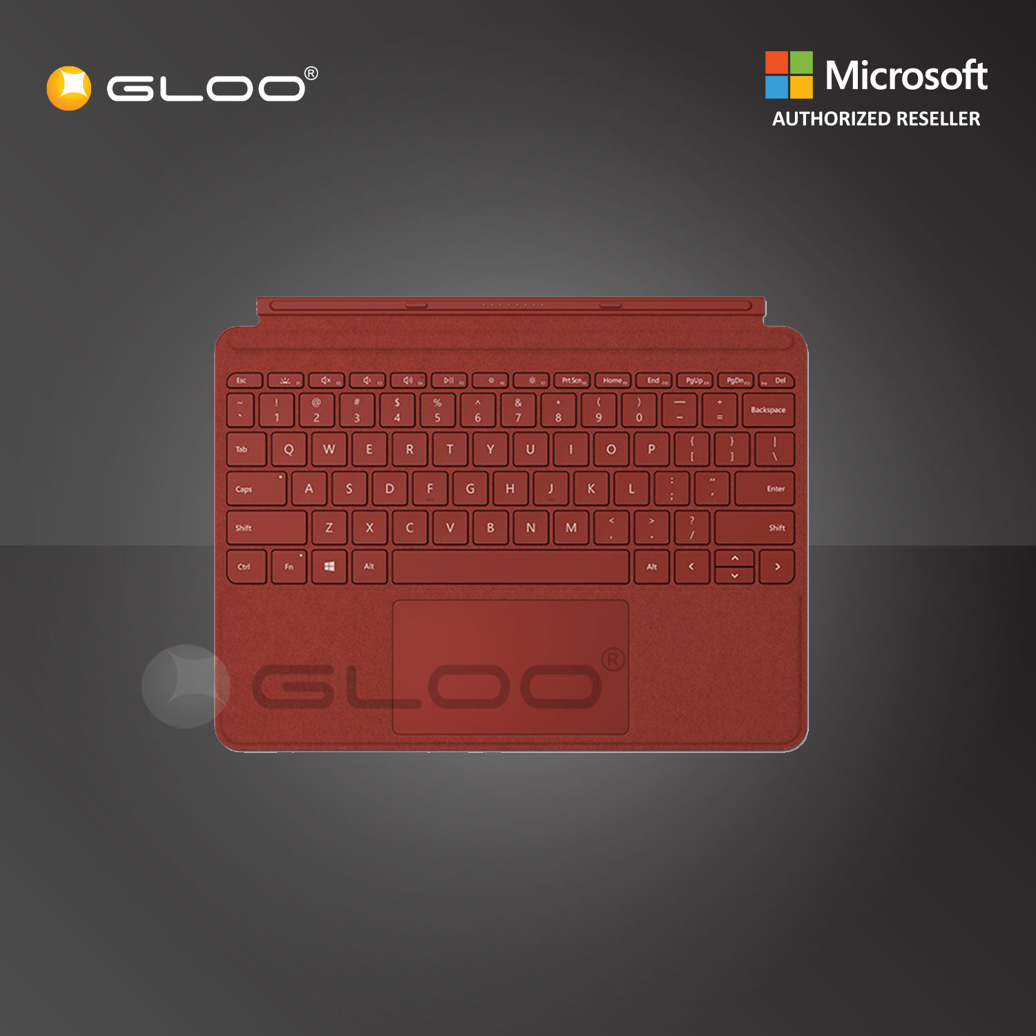 Microsoft Surface Go Signature Type Cover [ Poppy Red - KCS-00098] [KBDMSOFCS00098]
