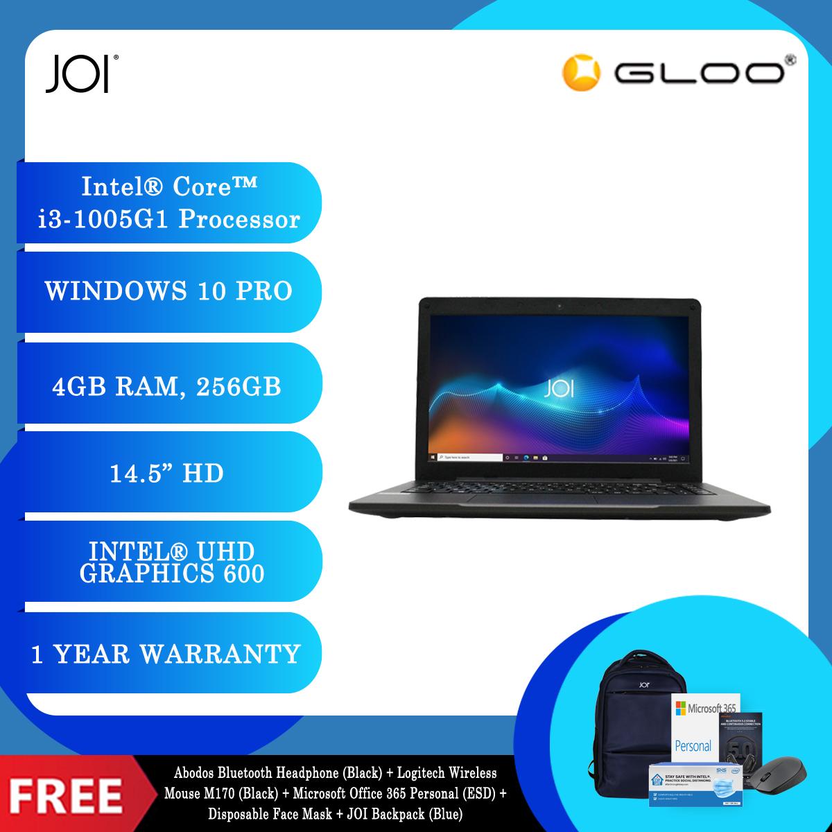 JOI Classmate 30 + Abodos Bluetooth Headphone Black  + Logitech Wireless Mouse M170 (Black) + Microsoft Office 365 Personal (ESD) + Disposable 3 Layer Face Mask + JOI Backpack (Blue) [BPPJOI0C30HMBL]