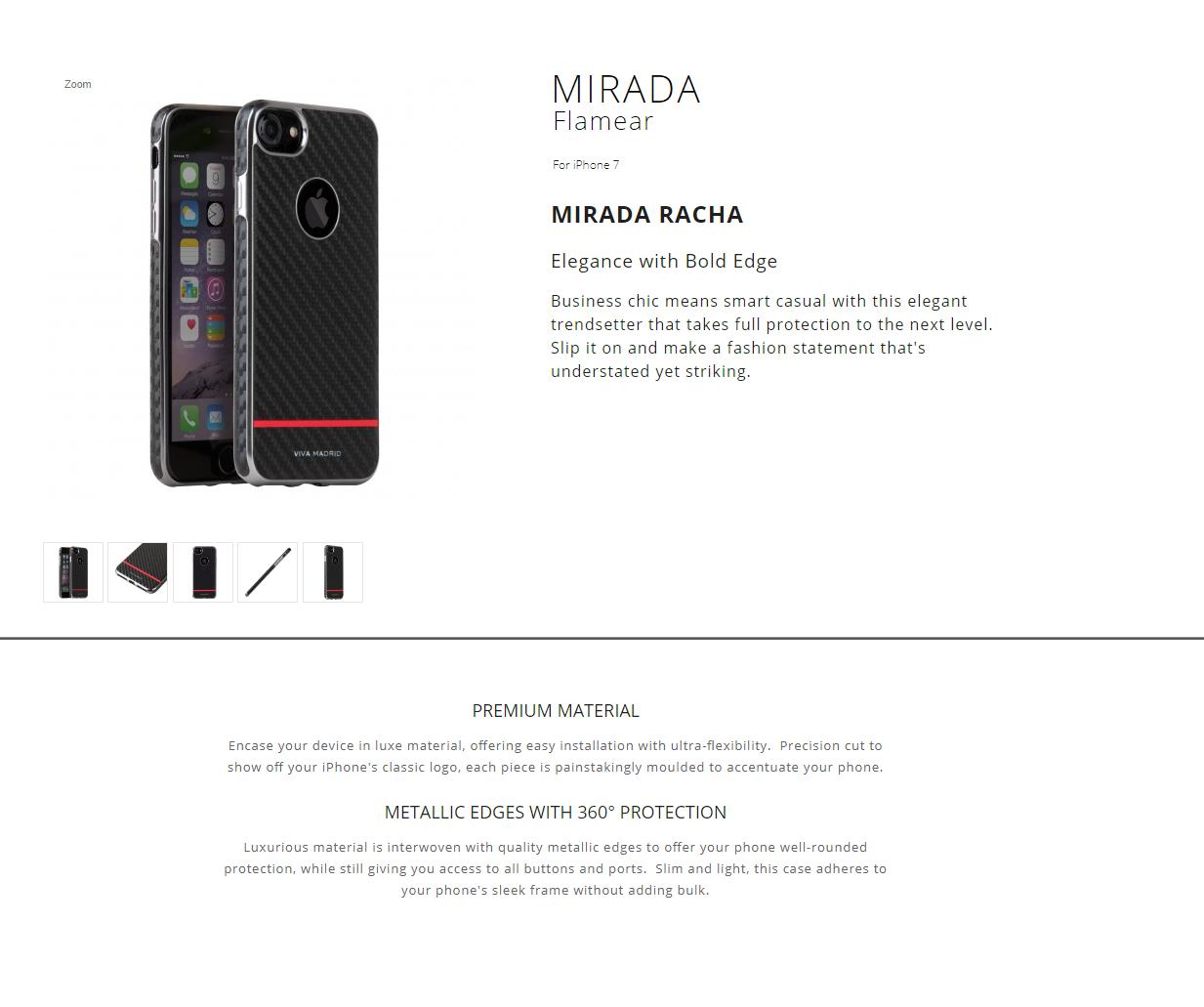 730d1a536e7 Viva iPhone 7 8 Back Case Mirada Racha Flamear Red 8886461223910