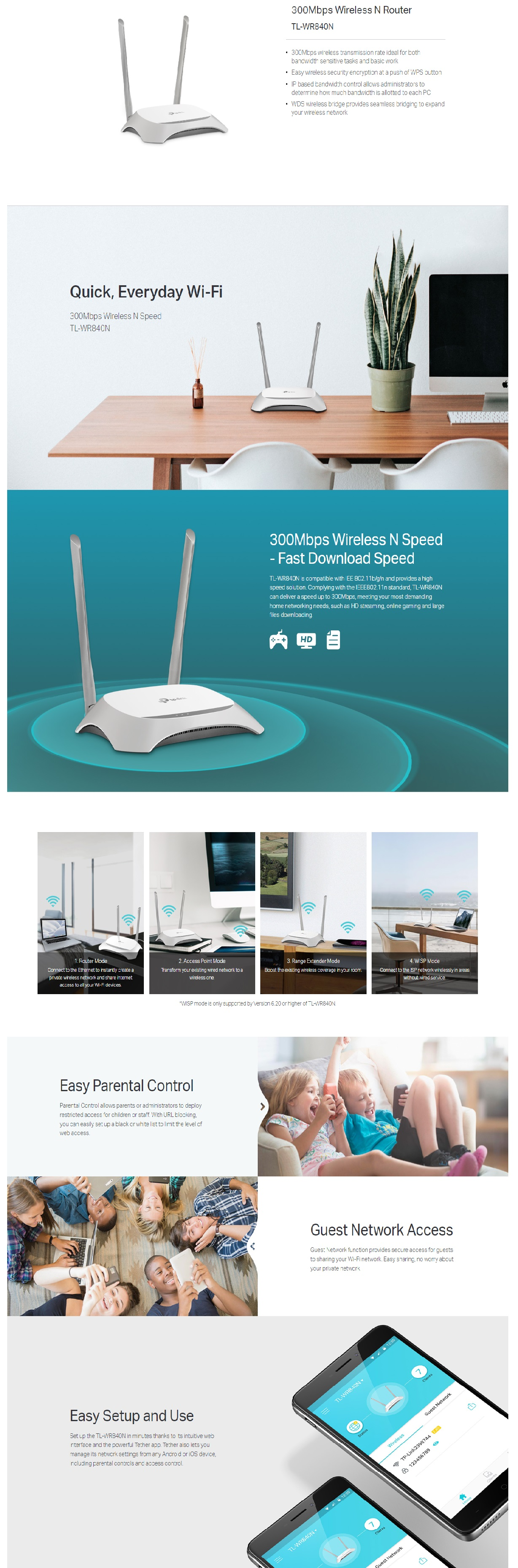 Tp-Link-300mbps-Wireless-n-router-TL-WR840N